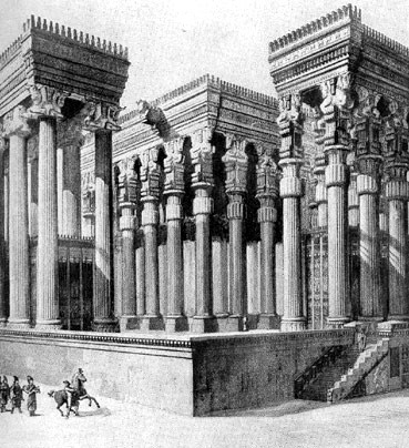 Hypostyle Hall Of Xerxes Persepolis