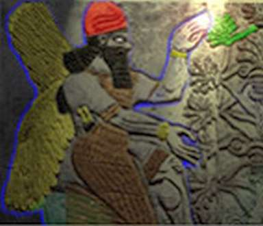 Assyrian Image of the Shining Ones Farming ?